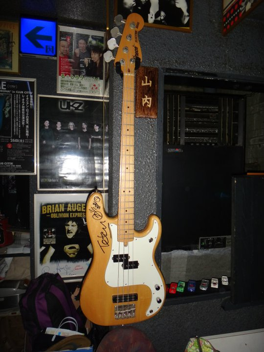 Greco electric precision bass 750 山内 哲夫 genuine signature model
