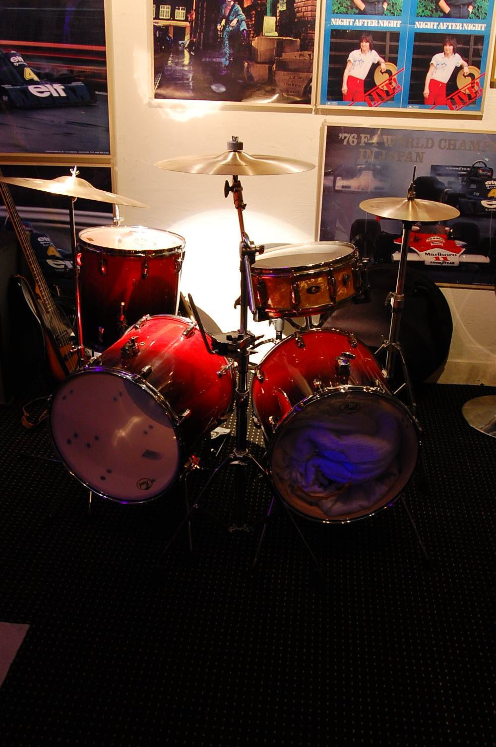 pearl twin bass drum set